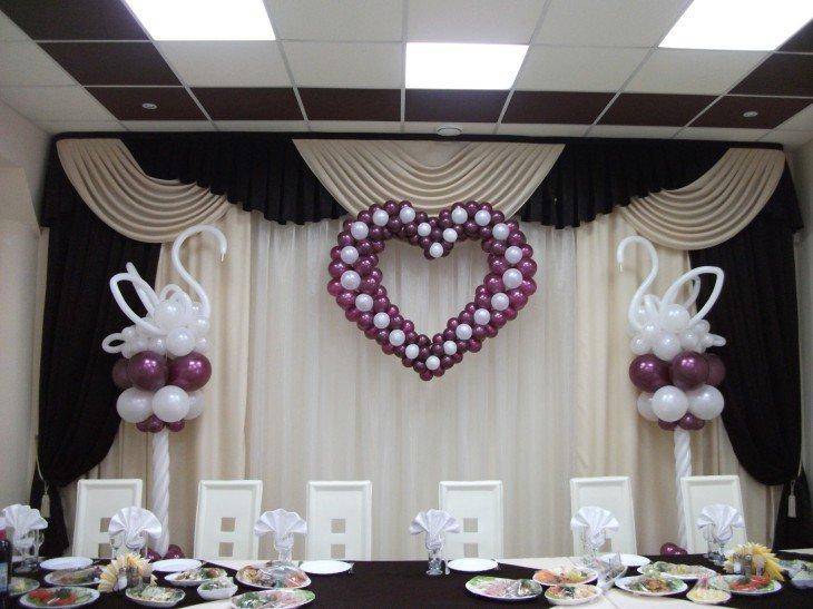 Украшения из шаров для свадьбы